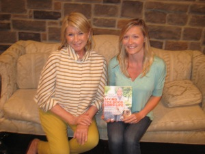 Martha Stewart and Melissa Beveridge with Stewart's Latest Book