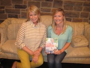 Martha Stewart and Melissa Beveridge with Stewart's Latest Book